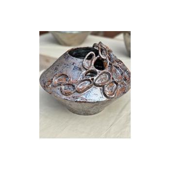 Vaso scultura Silver II