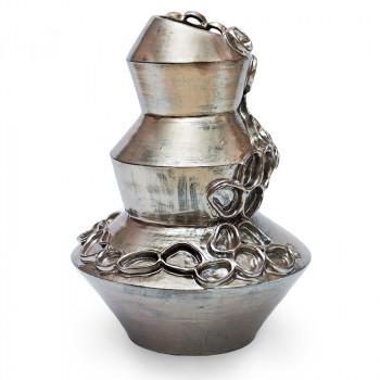 Vaso scultura Silver